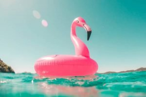 Summer- blow up float in water