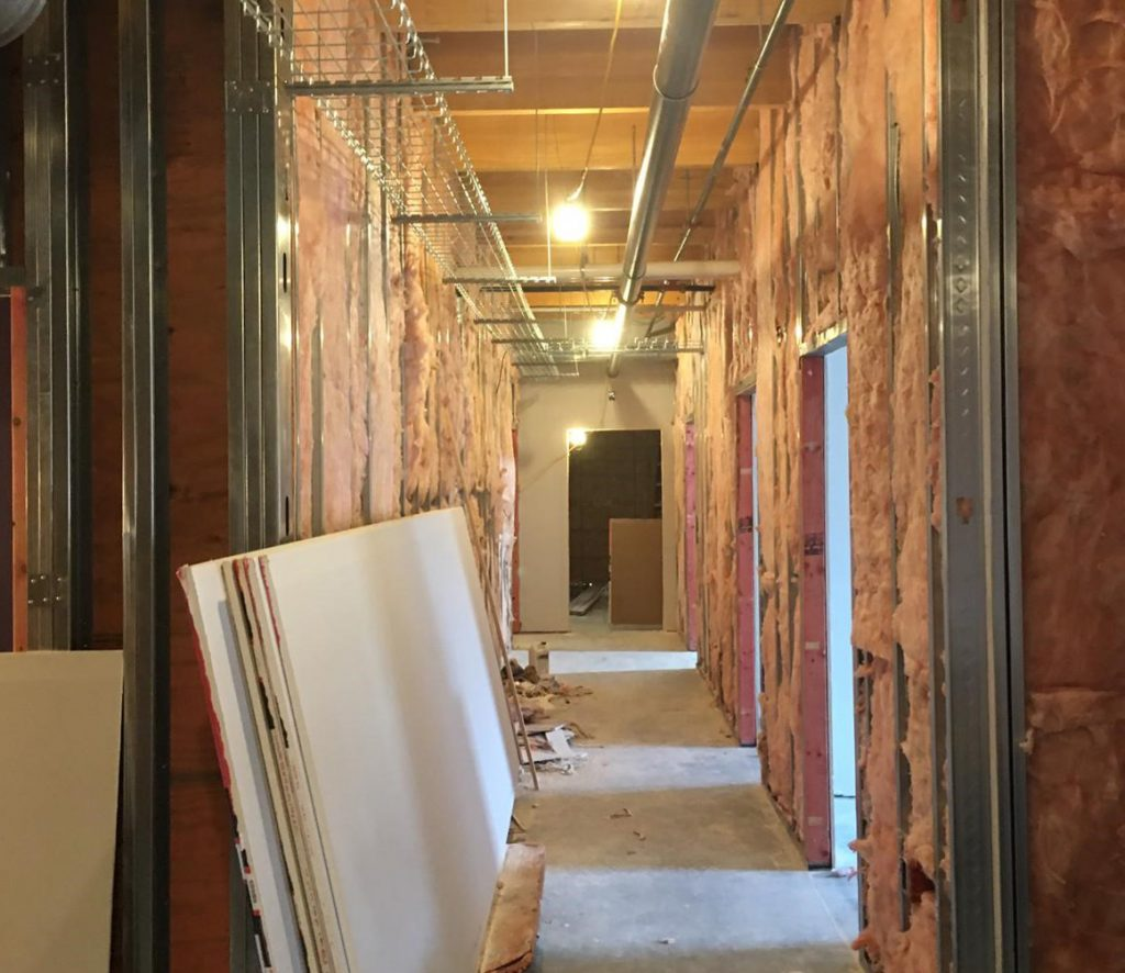 acoustical insulation during install