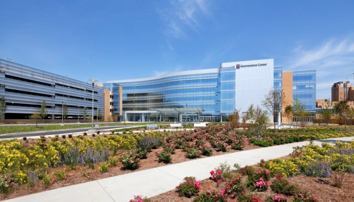 IU Health Neuroscience Center for Excellence, after construction